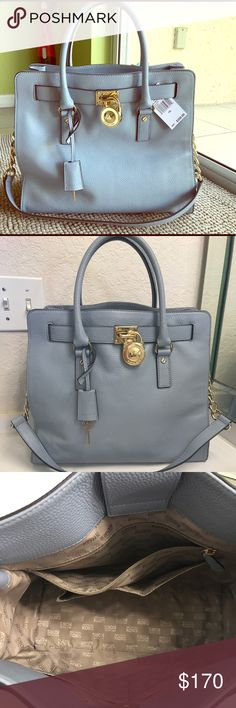 Michael Kors Hamilton bag!Color:Baby blue! Michael Kors Hamilton bag!Color:Baby blue!size: large Brand New!!!!! Michael Kors Bags Totes