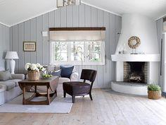 Living Room Design Ideas for 2019 Home Living Room, Living Area, Living Room Designs, Rental Makeover, Building A Cabin, Cottage Design, Blue Walls, Scandinavian Interior, Supreme