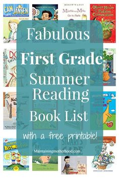 Need some great books for your First Grader to read this summer? Look no further! Get your First Grade Summer Reading Book List here!
