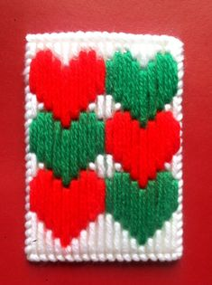 Items similar to Hearts Gift Card Holder, Christmas gifts, Gifts for him, Gifts for her, Gifts for teachers, Holiday gifts, Plastic canvas, Homemade, Cards on Etsy