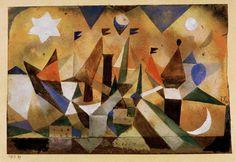 """Klee, Paul ; 1879–1940. """"Voiliers, attendant la tempête"""", 1917."""