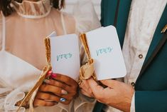 How cute are these mini vow books wrapped with a velvet bow | Image by Jordan Jankun Photography Bow Image, Book Wrap, Neon Museum, Vow Book, Elopement Inspiration, Vows, Wedding Blog, Velvet, Invitations