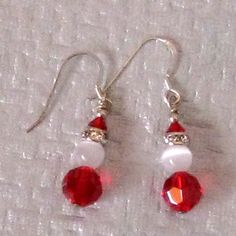 Santa Glass Swarovski Crystal Earrings