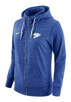 Nike Kentucky Womens Blue Tailgate Gym Full Zip Jacket