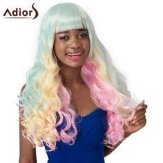 Curly Long Full Bang Adiors High Temperature Fiber Wig For Women