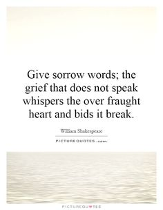 Image result for give sorrow words