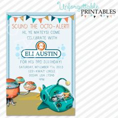 Octonauts+Birthday+Invite+by+SealsItWithAKiss+on+Etsy,+$10.00