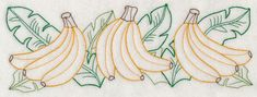 Banana Bunch Border (Vintage) design (J4483) from www.Emblibrary.com