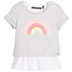 IKKS Girls Grey & White 2 Piece Top Set at Childrensalon.com