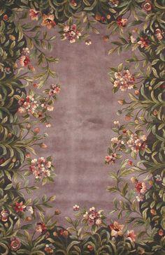 $466 6u0027x9u0027 KAS Oriental Rugs Emerald Lavender/Green Garden Area Rug U0026