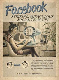 Vintage Facebook advert