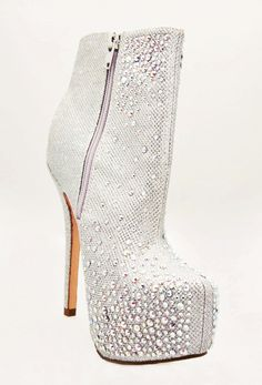 Feel daring in these Lauren Lorraine Nikki Booties. These stunning booties feature studs and rhinestones with a side zipper closure. Simple yet Chic. Bootie Boots, Ankle Boots, Silver Boots, Crazy Shoes, Shoe Game, Studs, Peep Toe, Booty, Chic
