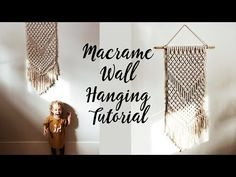 DIY Macramé Wall Hanging Easy Tutorial by Macrame School   Home Decor Ideas - YouTube