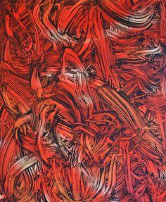 Judy Millar Red Red Orange #3 year: 2013 size: 1790 x 1490 mm media: acrylic and oil on canvas