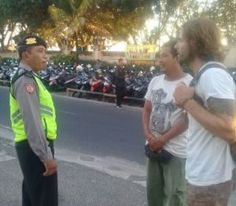 PatroliPersonil Polsek Kutsel Polresta Denpasar Sisir Tempat Wisata