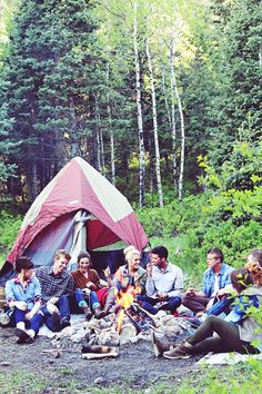 go on an epic camping trip with a bunch of friends