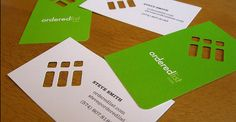 2-sided business card with different H/V orientations - switch it up from front to back