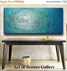 SALE Abstract Painting 60 x 30 Custom Original by artoftexture