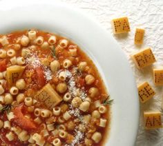 Chickpea and Pasta Soup Recipe - This rustic Italian classic is the unique marriage of rich flavor and valuable nutrition! Save your Parmigiano Reggiano® cheese rinds for this one, they enrich the broth, can be cut up once soft, and returned to the soup to provide lovely cheesy bites throughout.