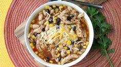 Too cold to cookout? Try this slow-simmered chicken soup, chock-full of your favorite backyard-barbecue flavors.