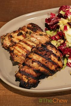 A zesty rosemary grilled chicken paired with a Greek inspired salad.