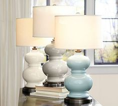 Merie Ivory Table Lamp with Outlet | Crate and Barrel | For the ...