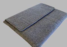 Wool Blue Herringbone Microsoft Surface Case by CathyKDesigns, $45.00 #Surface #SurfacePro #MicrosoftSurface
