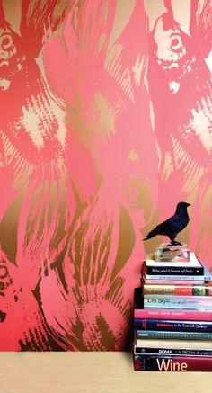 b31b81cfd911 Jill Malek Betta Wallpaper Pink Wallpaper