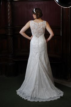 Hermione, The backless but still lady like dress in beaded lace