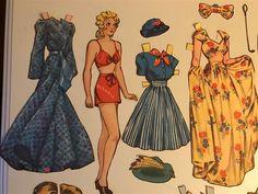 Stor klippdocka Blondie, 1940-tal på Tradera.com - Klippdockor |