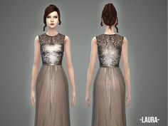 The Sims Resource: Laura - gown by April • Sims 4 Downloads