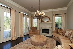 beautiful, love the fireplace details and the simplicity of the mantle decor