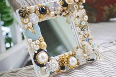 mosaic mirror  poodles and pearls   by MosaicTeasures, $29.99