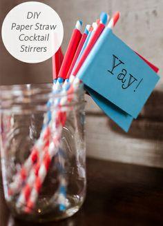 cocktail stirrers!