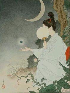"taf-art: ""Illustration from Grass Labyrinth by Takato Yamamoto. Japanese Artwork, Japanese Painting, Japanese Prints, Japan Illustration, Inspiration Art, Art Inspo, Art Chinois, Art Asiatique, Psy Art"