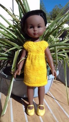 117368418 robe et tuto Knit Crochet, Crochet Hats, Doll Patterns, Beautiful Dolls, Kids And Parenting, Baby Dolls, Doll Clothes, Couture, Summer Dresses