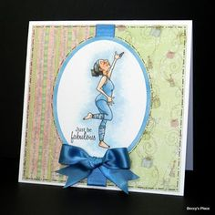 """How """"in the moment"""" does Nell look in this image? Not worried about who's watching, whether or not she's doing the moves correctly, or even. Digital Image, Stamping, Dancing, That Look, Paper Crafts, In This Moment, Queen, People, Cards"""
