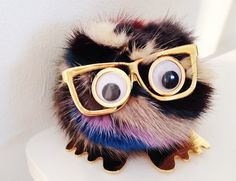 Sophie Hulme Bag Charm  I love him & those glasses, i am already seeing him hanging from my purse.