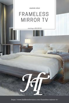 The Frameless Mirror TV has been re-introduced to the catalog. Starting at $3,599.95 it is a quality investment to make to turn an eyesore into a masterpiece. The ultimate mirror tv experience starts with the highest quality mirror available. The frameless mirror tv is perfect for any decor from modern to traditional. #mirrortv #tvmirror #noframe #hiddentelevision #mirrorselfie #luxury #interiordesignideas #interiordesigninspiration #toledo #livingroom #bedroomgoals #bedroomdesign #bedroom