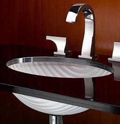 Vitraform. Rimless Cristal Oval 1930, #253LPC26 Sink only, undermount, $3,612