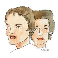 Jackie and Lee. Scribble, Sisters, Drawings, Art, Art Background, Kunst, Doodles, Sketches, Performing Arts