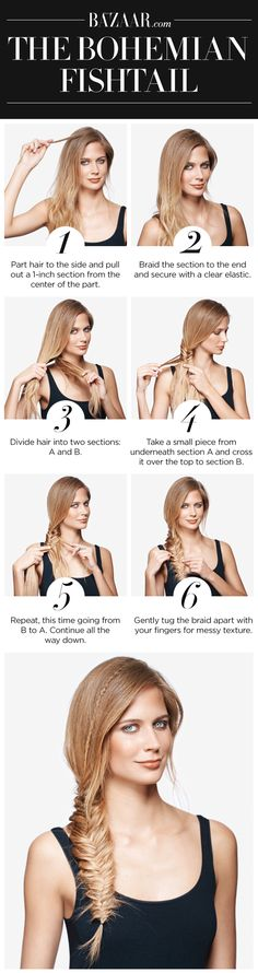 An easy tutorial for a fishtail braid that's perfect for beach vacations and summer festivals.