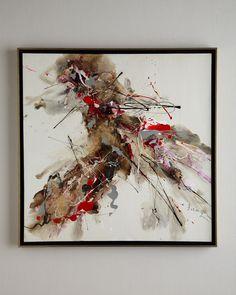 "John-Richard Collection ""Splat!"" Original Abstract Painting"