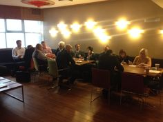 Our delegates completing Louise's activity at The Nottingham Playhouse