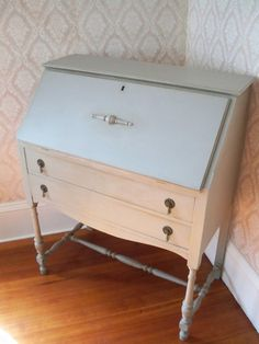 Very Fine DropFront Painted Secretary & by CambridgeAndBerkeley, $390.00