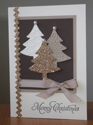 cute trees in browns with a little gltz and glam spruces right up!