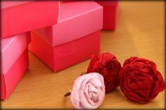 Day 15- Make ribbon rosette rings.