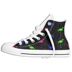 Neon Flamingos Colorful Flamingos Summber Bird Casual Canvas Shoes Unisex High Top Lace Up Flat Fashion Sneakers Fashion Flats, Sneakers Fashion, Flamingo Shoes, Lace Tops, Converse Chuck Taylor, High Tops, High Top Sneakers, Footwear, Outdoors