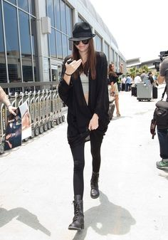 Kendall Jenner and American Apparel Modal Shawl Cardigan