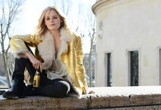 Hanne Gaby Odiele | Paris Fashion Week Fall 2014 | Tommy Ton Street Style for Style.com